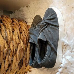 Maje grey knotted twist slipon sneakers